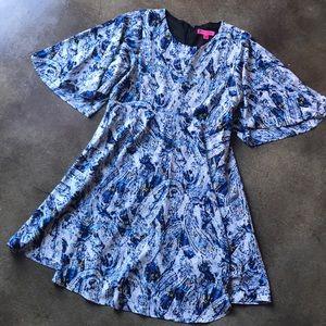 Betsey Johnson Flowy Colorful Dress